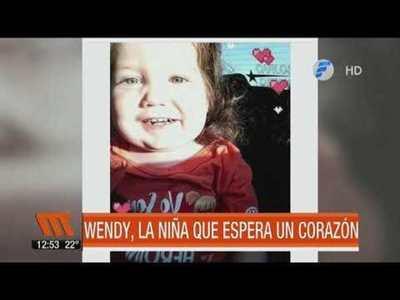 Wendy, la niña que espera un corazón