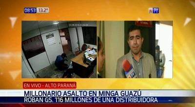 Millonario asalto en Minga Guazú