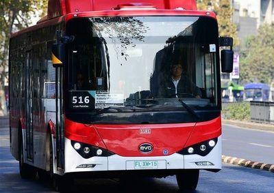 El éxito de los autobuses eléctricos en Santiago de Chile