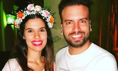 Marcelo Jara y su señora felices en la espera de Anastacia María Candela