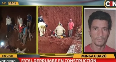 Trabajador muere tras derrumbe de una construcción