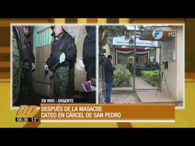 Incautan armas blancas, celulares y plantines de marihuana en cárcel de San Pedro