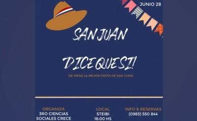 Alumnos del CRECE organizan tradicional Fiesta de San Juan