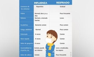 Comparten síntomas, pero la gripe y el resfrío son cuadros diferentes
