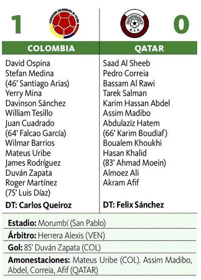 Colombia clasifica a cuartos de final