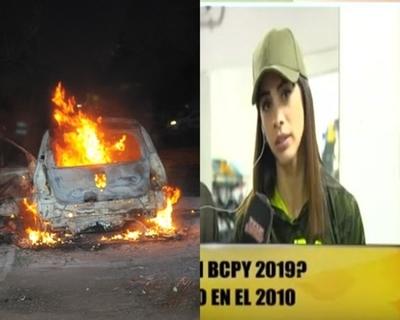 Karen habló del día que le prendieron fuego a su vehículo