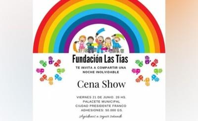 """""""Hogar Las Tías"""" invita a cena show benéfica"""