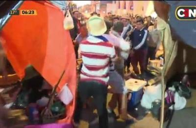 Incidentes en movilización campesina