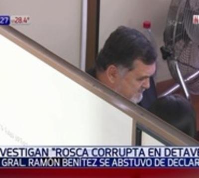Caso Detave: General Ramón Benítez se abstuvo a declarar en Fiscalía