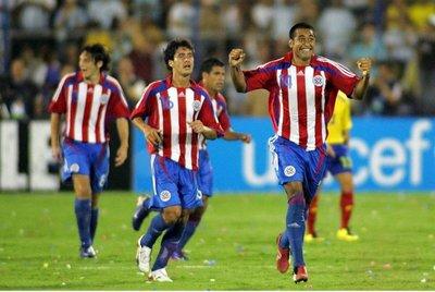 Triufazo de Paraguay ante Colombia en Venezuela 2007