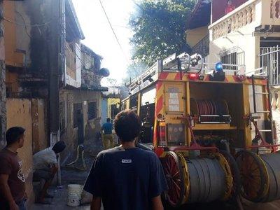 Susto en la Chacarita por un incendio