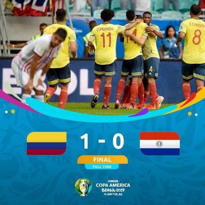 Paraguay no puede con Colombia y espera el milagro de la clasificación