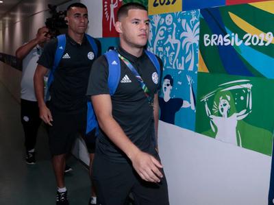 La delegación guaraní llegó al Arena Fonte Nova