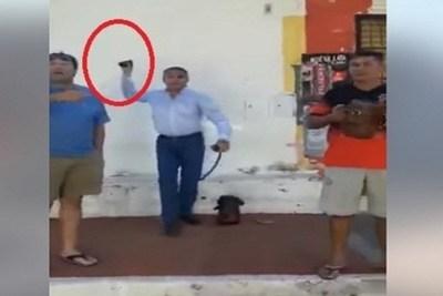 Intendente de San Antonio lidera turba para frenar audiencia pública