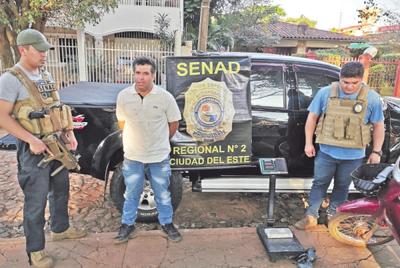 Detenido con droga en plaza