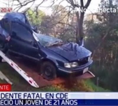 Joven de 21 años fallece en accidente