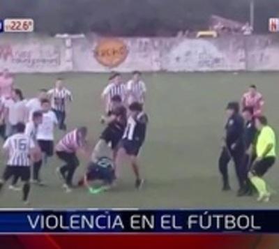 Ganó la violencia en el fútbol del interior
