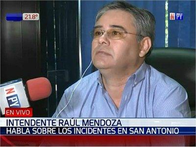 Intendente de San Antonio admite que se ofuscó y culpa a Efraín Alegre