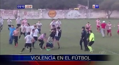 Otra vez, ganó la violencia en el fútbol del interior