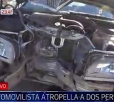 Automovilista atropella a dos personas y las abandona