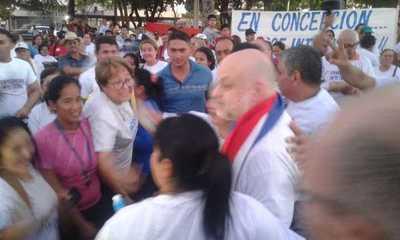 Visita de Payo, con audiencia pública y escraches