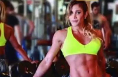 Karina Grau Campeona Sudamericana de Fitness se prepara para el Olimpia
