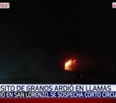 Depósito ardió en llamas en San Lorenzo