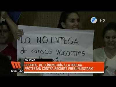 Hospital de Clínicas podría ir a huelga