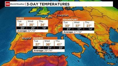 Ola de calor inesperada para Europa por crisis climática