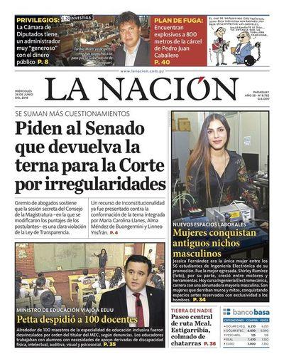 Edición impresa, 26 de junio de 2019