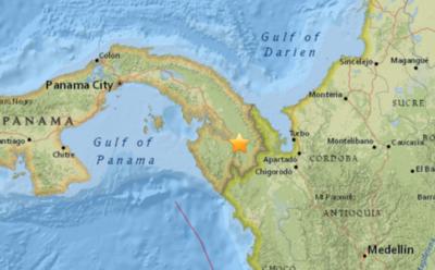 Un sismo de magnitud 6,3 golpea el oeste de Panamá