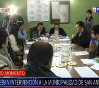 Junta aprueba intervención de comuna de San Antonio
