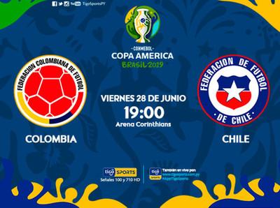 Colombia y Chile se miden en Sao Paulo por un boleto a la semifinal