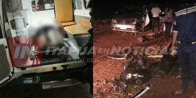 GRAVE ACCIDENTE EN EL RAMAL QUE UNE LA RUTA 6 CON PIRAPEY KM 70.