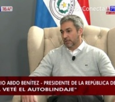 "Mario Abdo: ""Ya veté la ley de autoblindaje"""