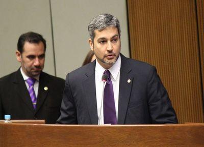 Abdo Benítez rendirá su primer informe de gestión al Congreso