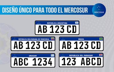 Desde hoy, chapas con formato único para Mercosur