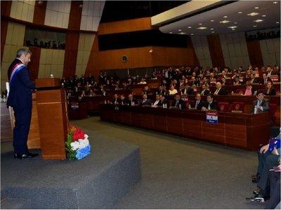 Abdo no se refirió a baja ejecución presupuestaria en su informe