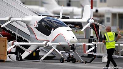 Taxis voladores sobre París para las olimpiadas de 2024
