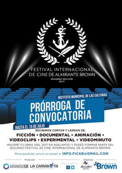 Convocan a cineastas y audiovisualistas a Festival de Cine Almirante Brown