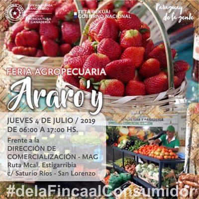 Feria agropecuaria este jueves