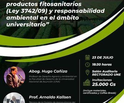 Preparan seminario sobre uso y comercialización de productos fitosanitarios
