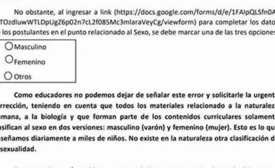 """""""Masculino, Femenino, Otros""""; polémica por formulario """"Mi Oportunidad"""""""