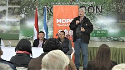 Ministro Wiens encabezó audiencia pública sobre obras en Boquerón