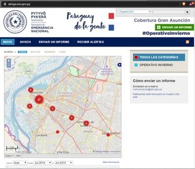 Habilitan portal web para ubicar a personas en situación de calle durante Operativo Invierno de la SEN