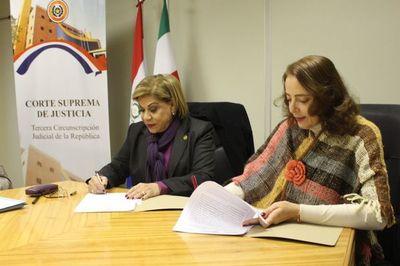 Corte firma convenio de cooperación con la Unae