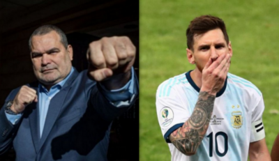 "HOY / Chila defiende a Messi: ""La Conmebol mata al fútbol"""