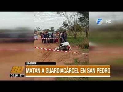 Matan a guardiacárcel en San Pedro