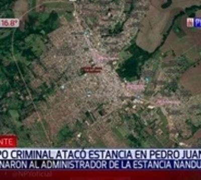 Atacaron estancia y asesinaron a capataz en Amambay