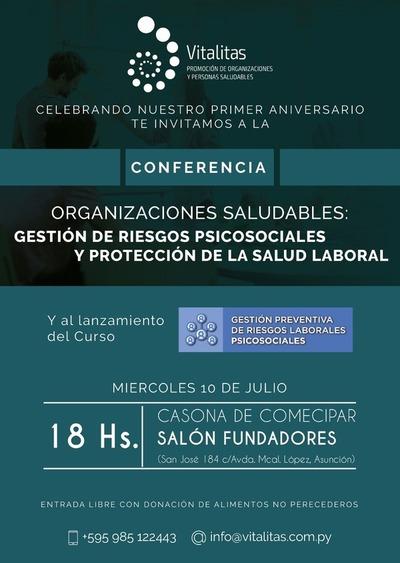 Conferencia sobre salud laboral y gestión de riesgos psicosociales